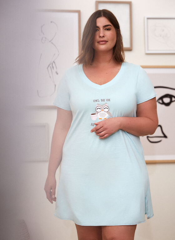 Printed Nightgown, Blue