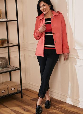 Novelti - Manteau court à capuchon amovible, Orange,  manteau, capuchon, manches longues, glow, pattes de boutonnage, printemps été 2020