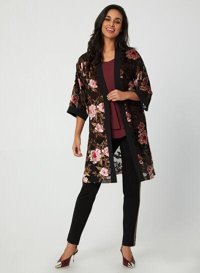 Kimono fleuri ouvert