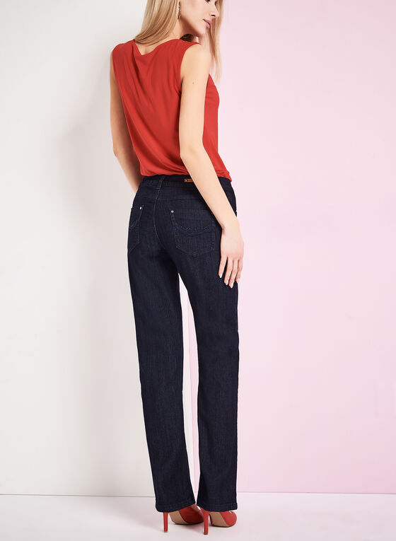 Simon Chang - Slim Leg Jeans, Blue, hi-res