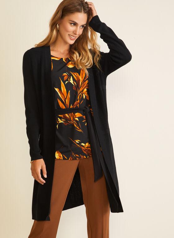 Cardigan long en tricot , Noir