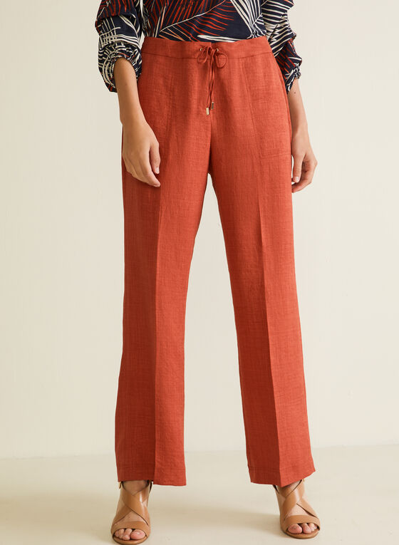 Modern Fit Wide Leg Pants, Orange