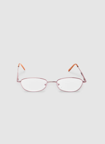 Oval Reading Glasses, Pink,  oval readers