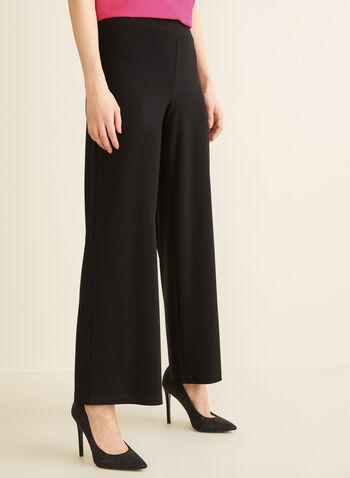 Pantalon pull-on à jambe large, Noir,  dress pants