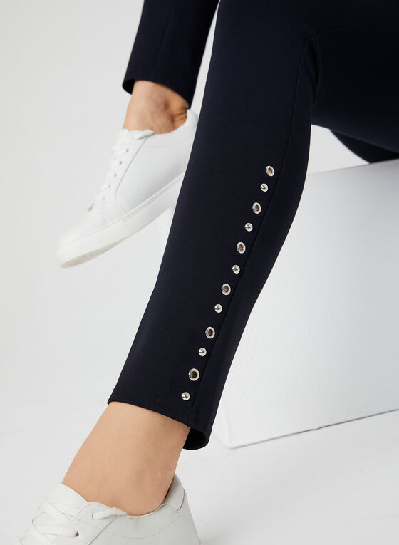 Eyelet Detail Leggings, Blue