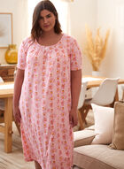 Floral Print Nightgown, Pink