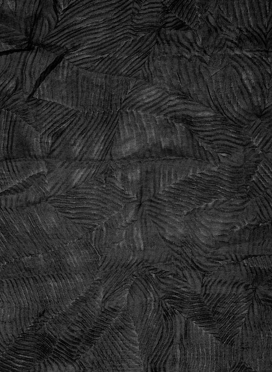 Foulard pashmina à effet plissé, Noir