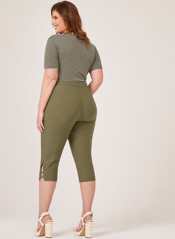 Signature Fit Slim Leg Capri, Green, hi-res