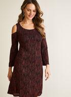 Cold Shoulder Glitter Dress, Black
