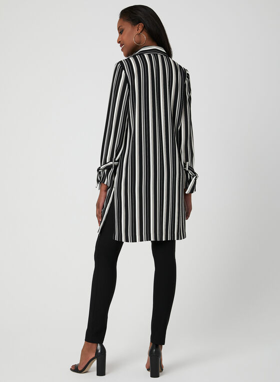 Stripe Print Duster, Black