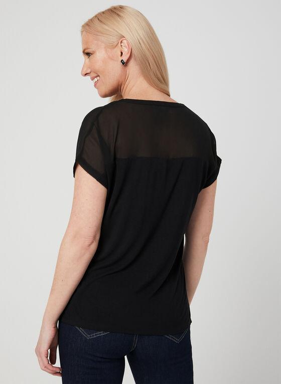T-shirt bi-matière, Noir, hi-res
