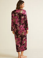 Floral Print Velour Nightgown, Multi