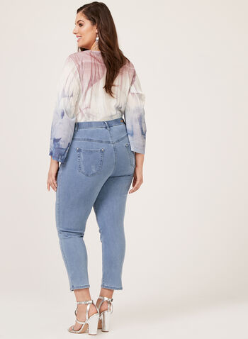 Simon Chang - Slim Leg High Rise Jeans, Blue, hi-res