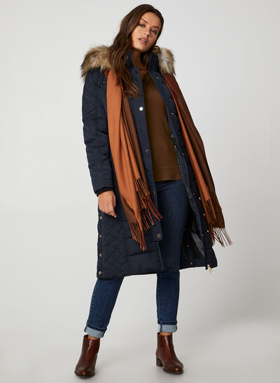 Chillax - Faux Down Quilted Coat