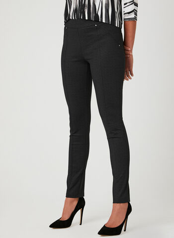 Charlie B - City Fit Slim Leg Pants, Black, hi-res