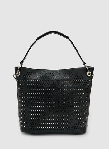 Stud Detail Bucket Bag, Black, hi-res