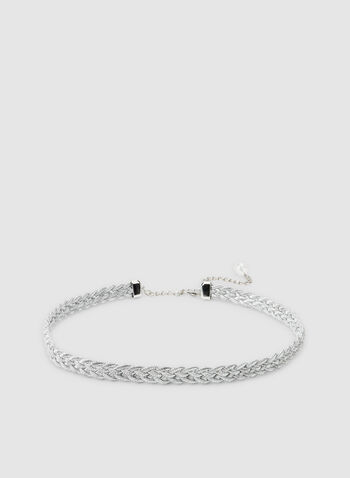 Thin Braided Belt , Silver,  belt, braided, silver, fall 2019