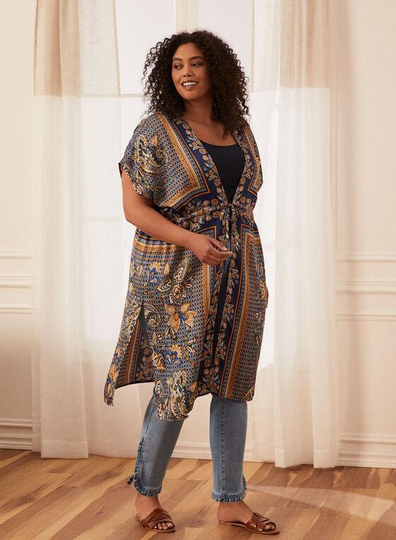 Paisley Kimono Duster, Blue