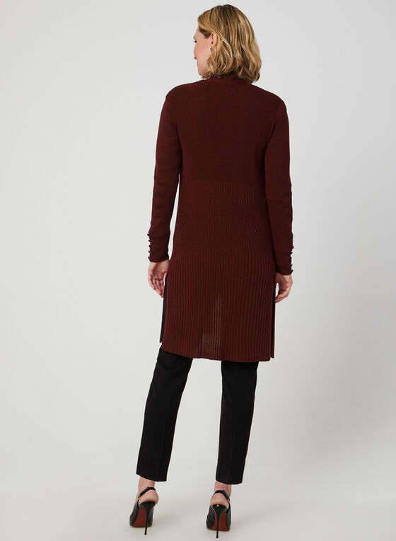 Long Open Front Cardigan, Red