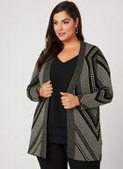 Cardigan en tricot à fils métalliques, Noir, hi-res