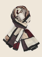 Colour Block Lightweight Scarf, Red