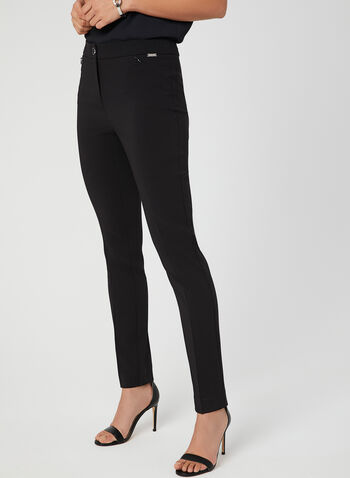 Modern Fit Straight Leg Pants, Black, hi-res