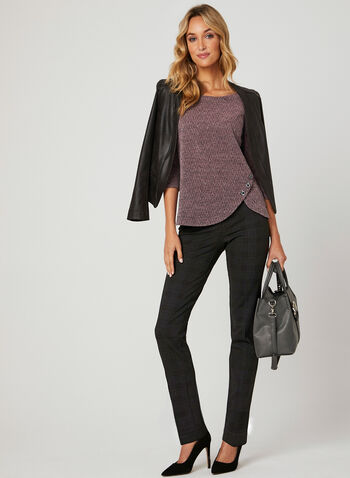 Textured Knit Top , Multi, hi-res