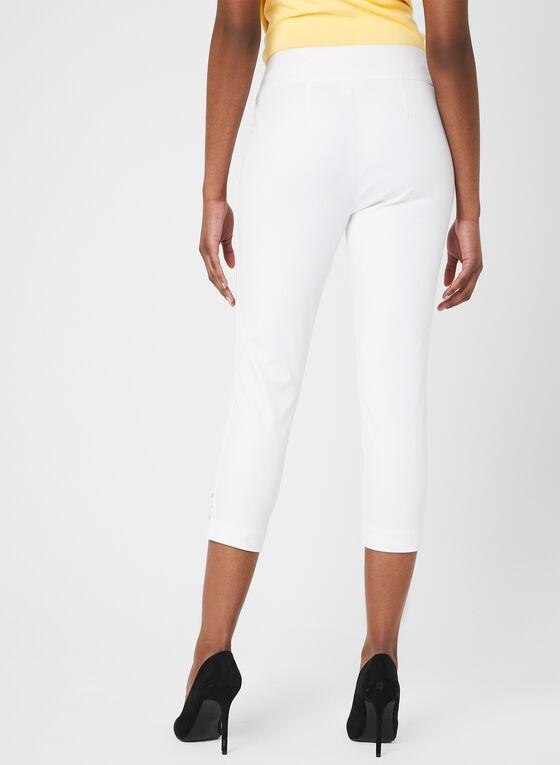 Pull-On Capri Pants, White, hi-res