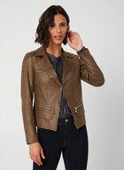 Vex - Suede-like Collar Jacket, Brown, hi-res