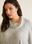 Poncho en tricot à col bénitier, Gris