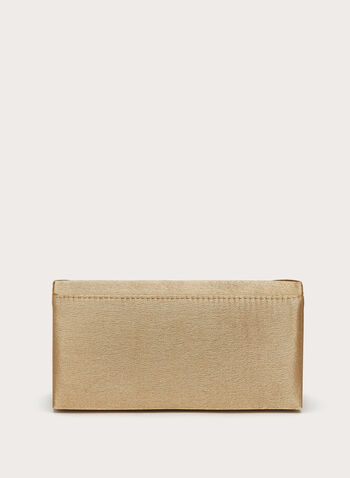 Pleated Glam Clutch , Gold, hi-res