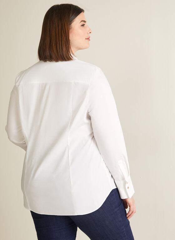Chemisier ajusté en coton , Blanc