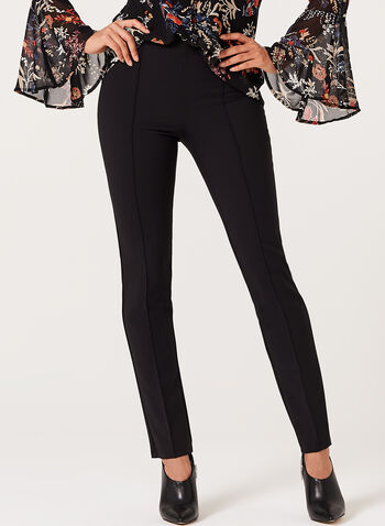Pull-On Slim Leg Pants, , hi-res