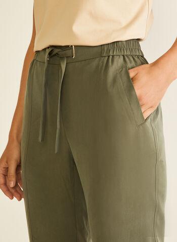 Modern Fit Tencel Pants, Green,  pants, modern, straight leg, pull-on tencel, belt, spring summer 2020