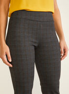 Tartan Print Pull-On Pants, Grey