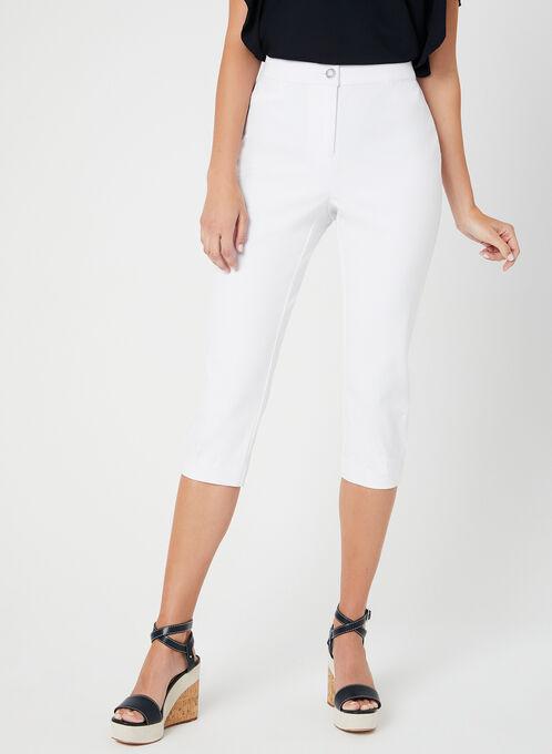 Signature Fit Capri Pants, White