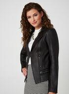 Vex- Faux Suede Biker Jacket, Black