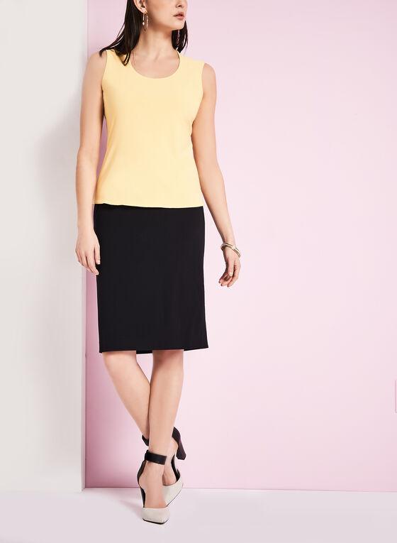 Back Slit Pencil Skirt , Black, hi-res