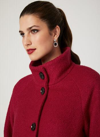 Manteau bouclé en laine  , Rouge, hi-res