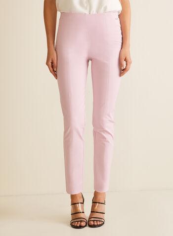 Slim Leg Pull-On Pants, Purple,  pants, pull-on, pleats, stretchy, cotton, slim leg, spring summer 2020