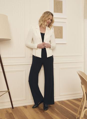 Pantalon pull-on à jambe large, Bleu,  pants, wide leg, pull-on, jersey, fall winter 2020