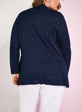 Cardigan en tricot drapé texturé, Bleu, hi-res