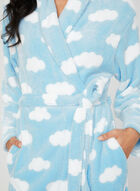 Cloud Print Robe, Blue, hi-res