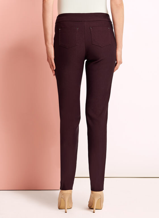 City Fit Straight Leg Pants, Red, hi-res