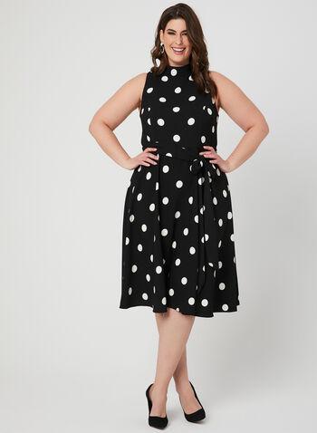 Polka Dot Dress, Black,  Spring 2019