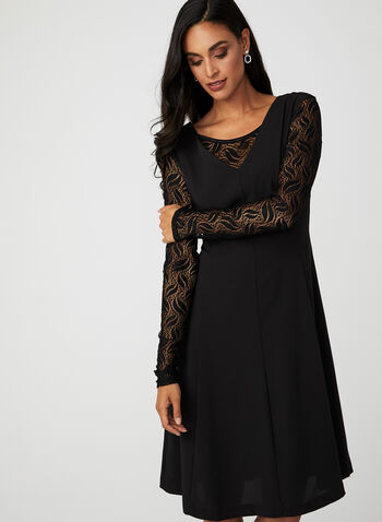 Long Sleeve Lace Bolero , Black, hi-res