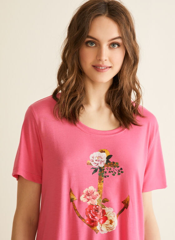 Claudel Lingerie - Chemise de nuit imprimée, Rose
