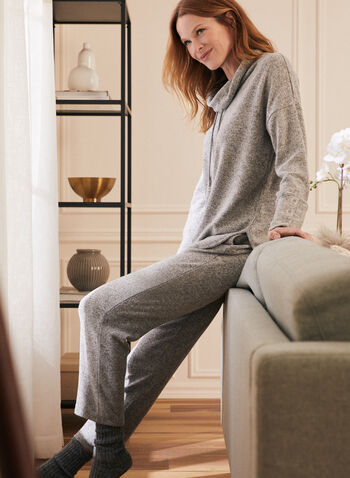 Sweater Knit Pull-On Pants, Grey,  pants, slim leg, knit, sweater, pull-on, fall winter 2020