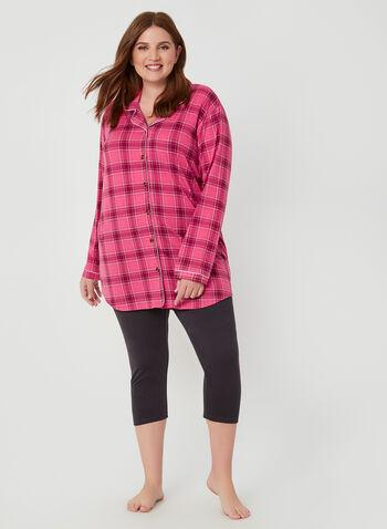 Midnight Maddie - Ensemble pyjama à carreaux, Orange, hi-res,  taille élastique, fait au Canada, Canada, 2 pièces, deux pièces, automne hiver 2019
