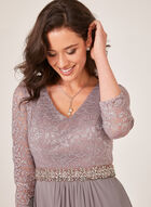 Alex Evenings - Glitter Lace Evening Gown, Pink, hi-res